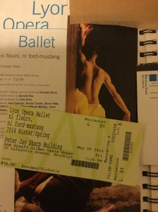 Lyon Opera Ballet performance of ni fleurs, ni ford-mustang at BAM on May 9, 2014