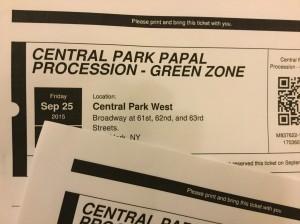Central Park Papal Procession